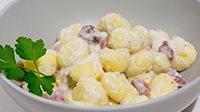 Gnocchi speck e crema di patate-1