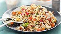 Quinoa con speck e verdure-1