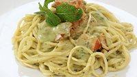 Spaghetti con mortadella e pistacchi-1