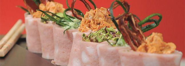 Sushi di Mortadella Galbanella con ripieno alle verdure e certosa